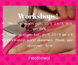 workshops maart april 2016 Stof&Wol