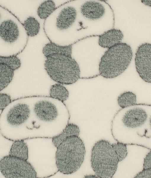 fleece panda wit grijs