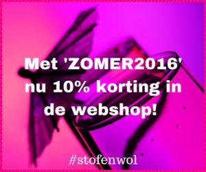 10% korting in webshop