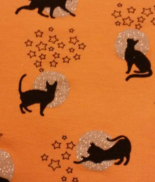 katten maan glitter tricot okergeel