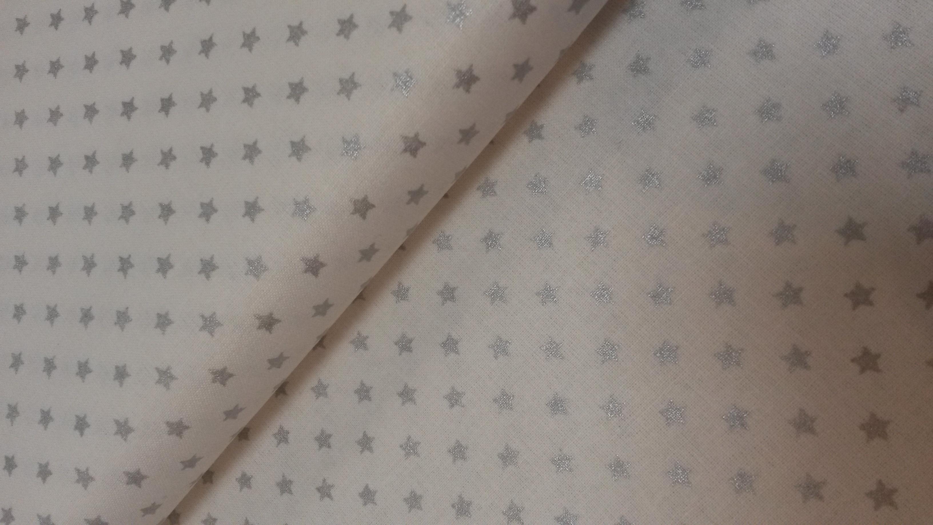 katoen kleine ster zilver