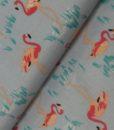 katoen flamingo roze blauw