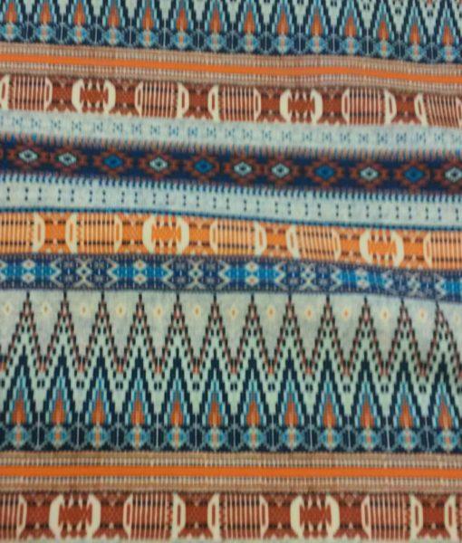 etnisch streep pranje blauw tricot hilco
