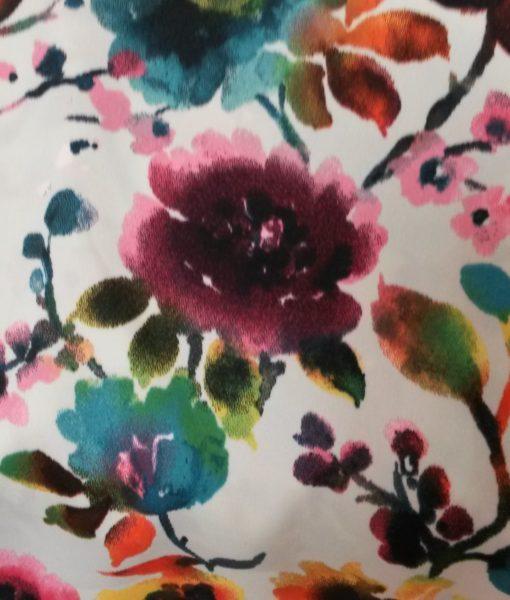 bloemen satijn mintgroen