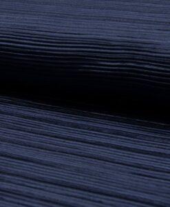 plisse jesey blauw