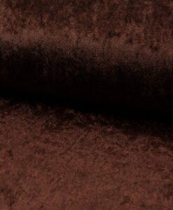 vlours de panne donkerbruin