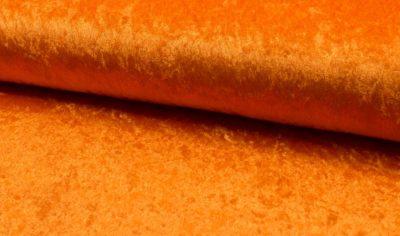 velours de panne oranje
