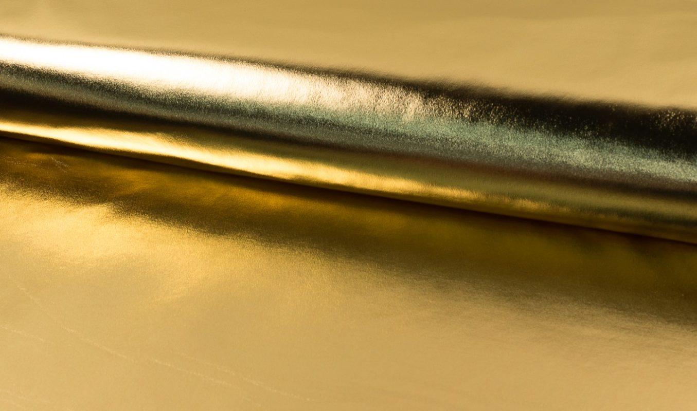 lamé uni goud
