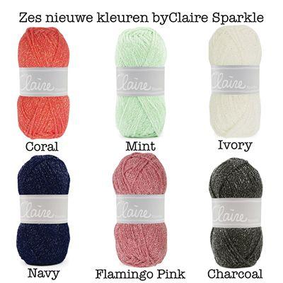 nieuwe kleuren ByClaire Sparkle