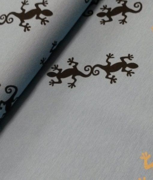 hagedisblauw zwart oker tricot