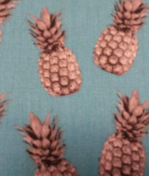 ananas katoen aqua grijs