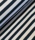 stree marineblauw wit sweattricot