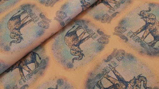 olifant oranje grijs tricot