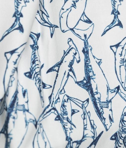 haaien petrol blauw tricot