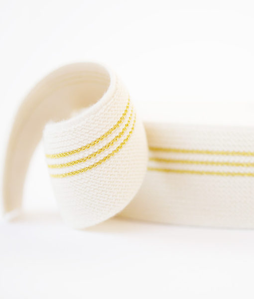 elasitisch tailleband see yu at six ecru goud 3 lijnen