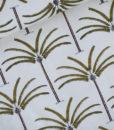 palmen ecru geeel zwart french terry palms