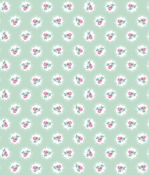 bloemetjes imnt wit roze katoenen tricot