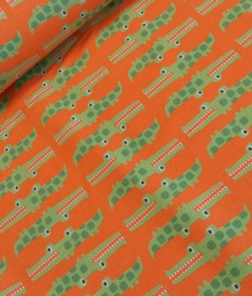 krokodil groen oranje tricotn hilco