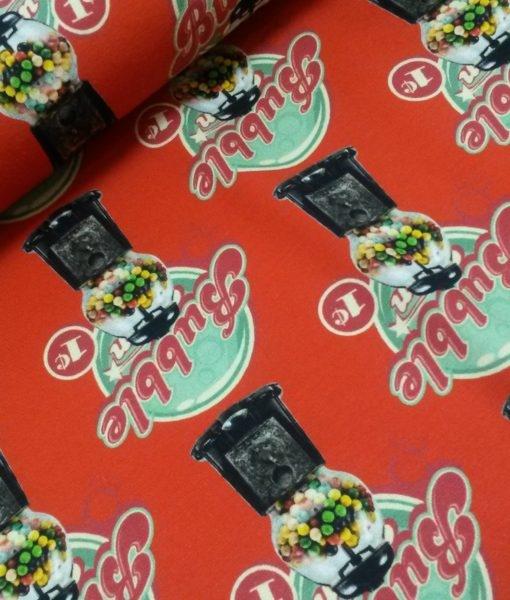 kauwgomballen rood digitale tricot stenzo