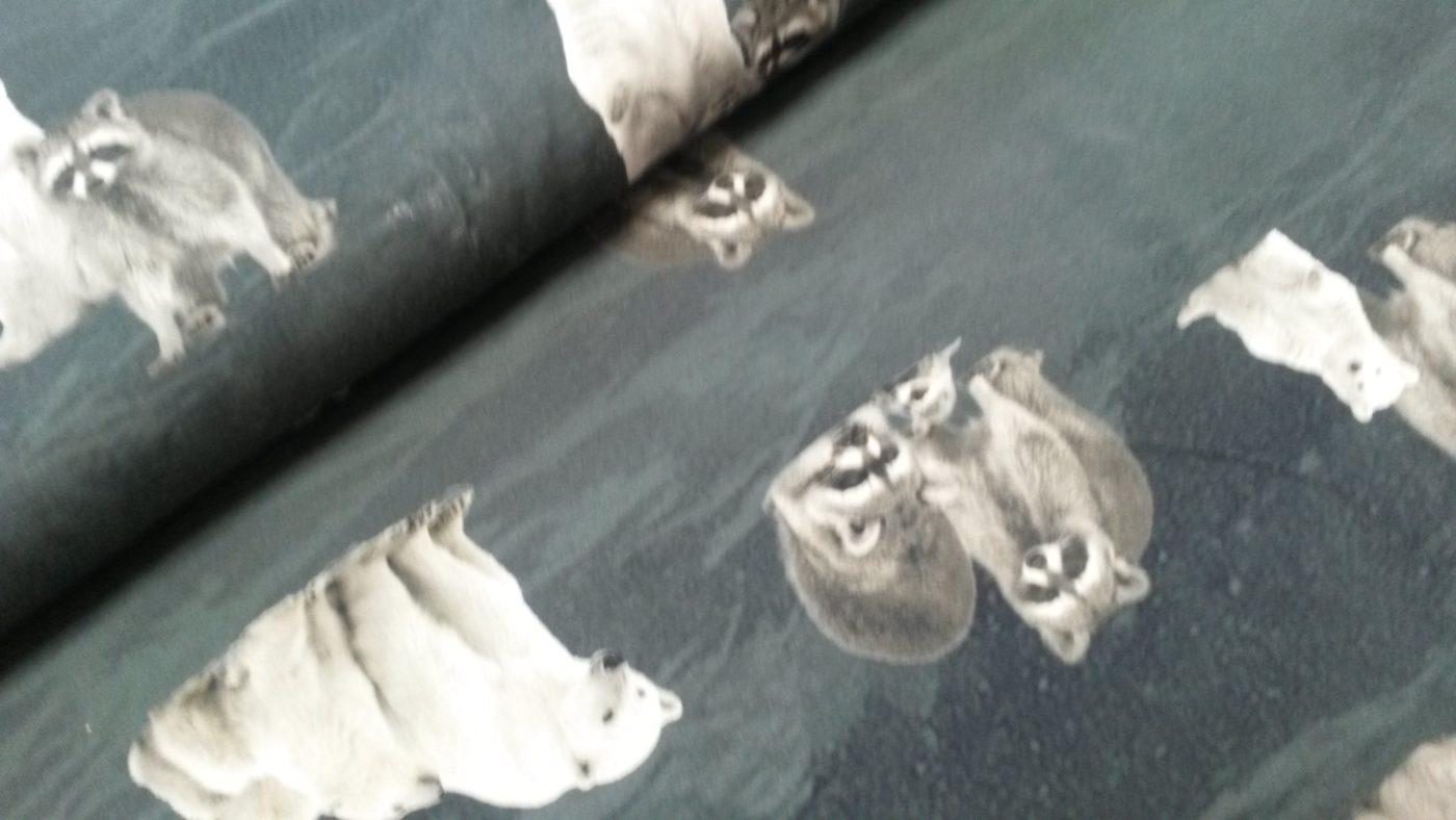 ijsbeer wasbeer digitale tricot grijs stenzo
