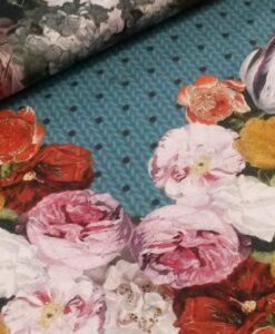 bloemen breisel blauw digitale trict stenzo