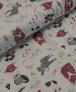 vos uil eland rood grijs bologische tricot