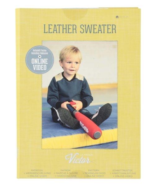 patroon la maisn victor leather sweater kindertrui