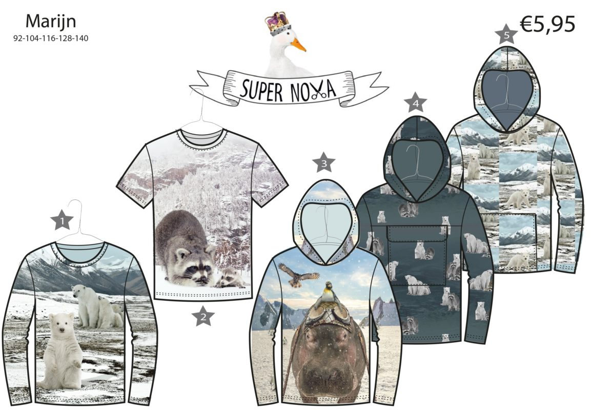 supernova patroon marijn kindertrui kindershirt