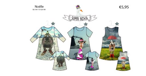 supernova noelle patroon kinderjurk