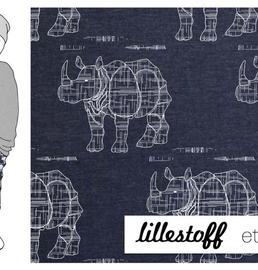 Rhino jeans tricot lillestoff neushoorn