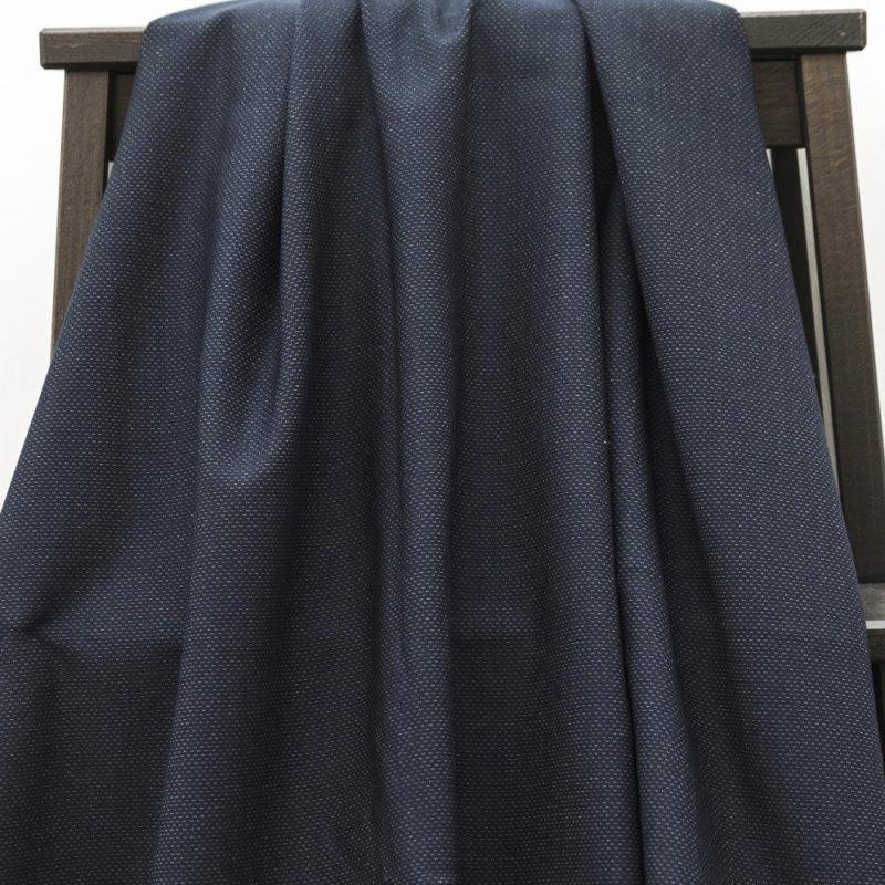 madeline jurk la maison victor stevige tricot blauw