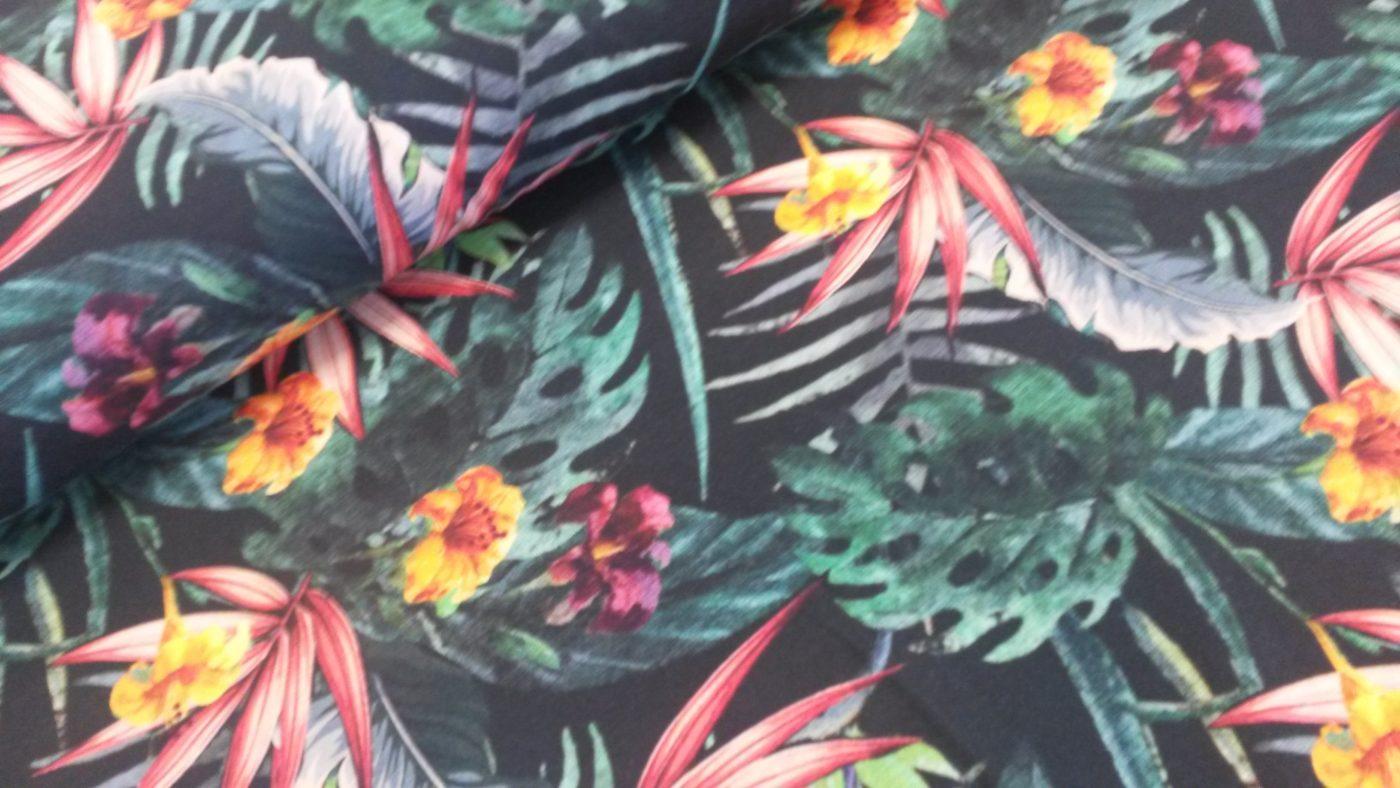 jungle bloemen digitale tricot