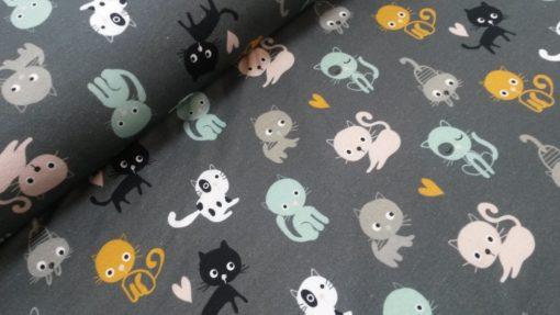 katten swattricot ilja fabric cats