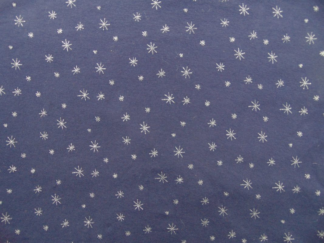 chat chocolat nightblue silver jersey print we re all stars