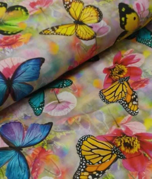 vlinders bloemen digitale tricot
