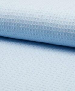 wafel lichtblauw wafelkatoen wafelstof