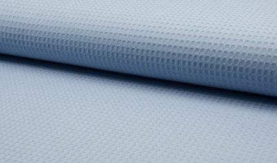 wafel vergrijsd blauw wafelkatoen wafelstof