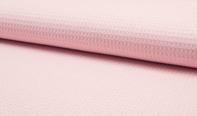 wafel roze wafelkatoen wafelstof