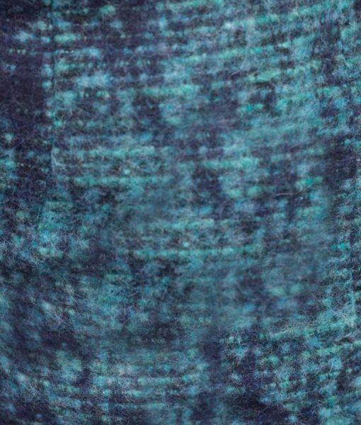 la maison victor wollen stof blauw melee dina rok