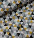 driehoekjes oker mint wit katoenen popeline