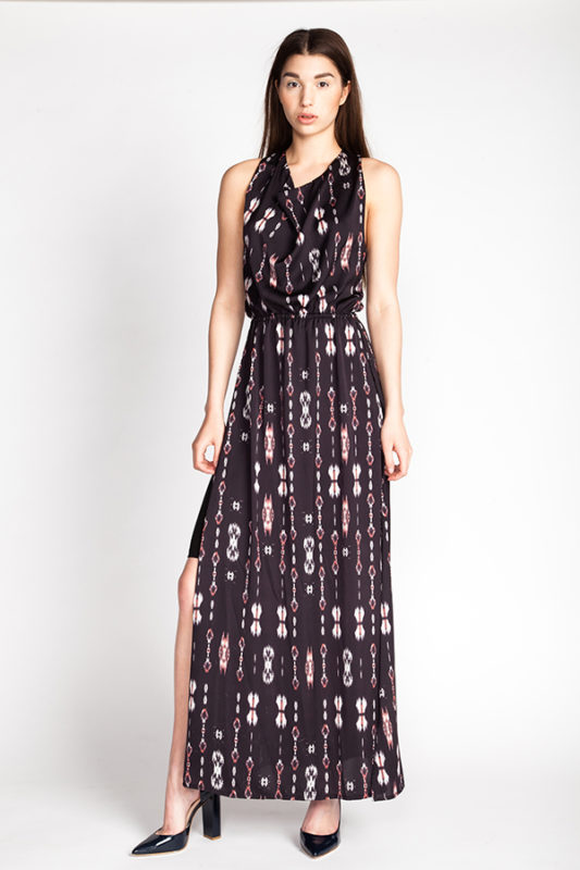 patroon pattern Ama cowl neck dress
