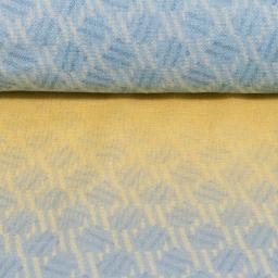 noppen structuur blauw geel katoen nele swafing