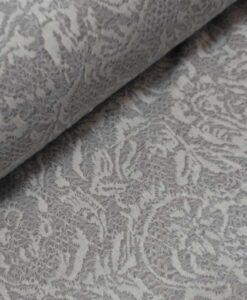kanten bloemen grijs wit viscose tricot met kant maduro swafing