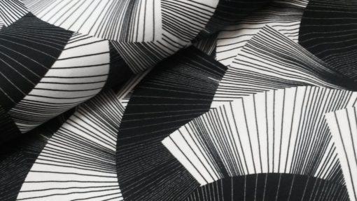 waaiers zwart wit viscose tricot selina swafing