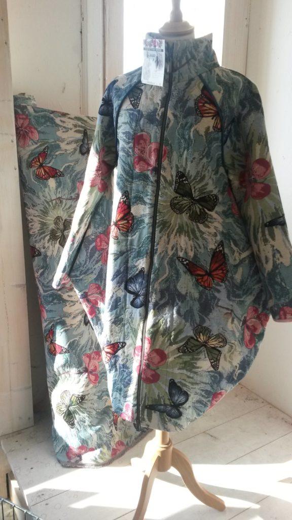 sculptural bucket coat juud fabric