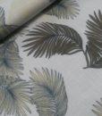 palmbladeren lichtblauw groen geel stretch viscose