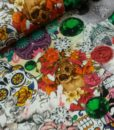 skulls bloemen digitale katoenen tricot bínspired