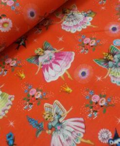 feeen prinses rood multi retro katoenen tricot fairy princess fiona hewitt