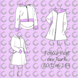 Patroon foliis vest en jurk sofilantjes
