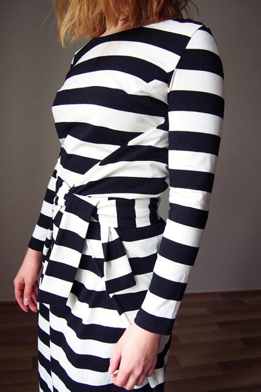 pattern patroon mouw sleeve kielo wrap dress